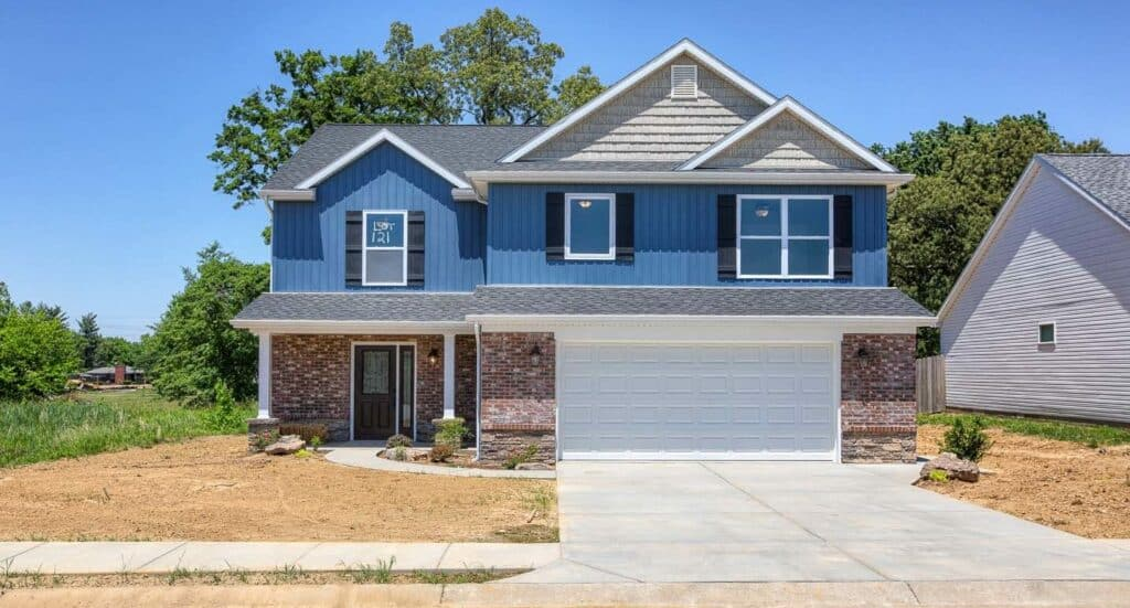 Poet Square Lot 121  Evansville, IN   2018 Parade of Homes   Front Elevation 1