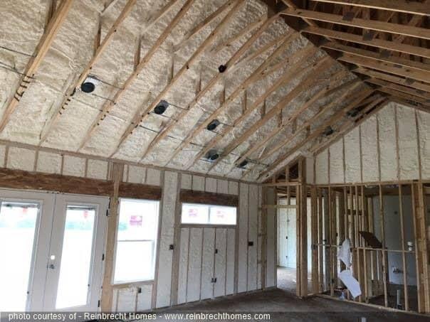 Spray Foam Insulation | Reinbrecht Homes
